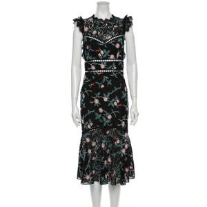 SAYLOR Floral Print Midi Length Dress